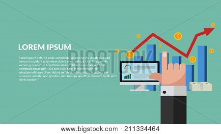 Increase Revenue Concept Vector Eps 10 Banner