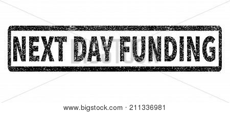 next day funding stamp on white background.