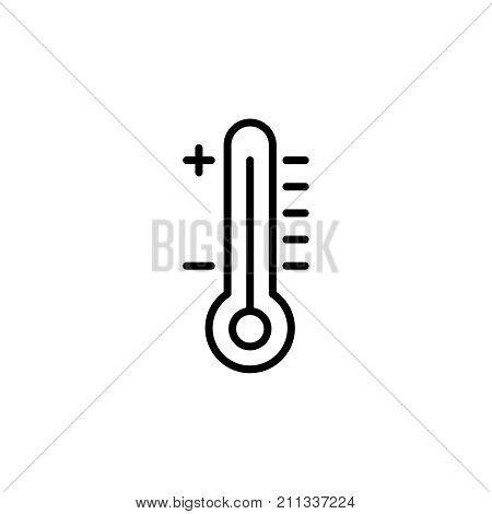 Modern thermometer line icon. Premium pictogram isolated on a white background. Vector illustration. Stroke high quality symbol. Thermometer icon in modern line style.