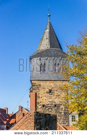 Historic Kehrwiederturm Tower At The City Wall In Hildesheim