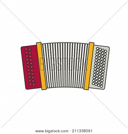 accordion flat vector isolated on white background