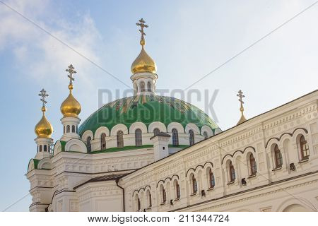 Chapels of the Refectory Church, a refectory and an adjoining church of Saint Anthony and Theodosius of the medieval cave monastery of Kiev Pechersk Lavra in Kiev, the capital of Ukraine