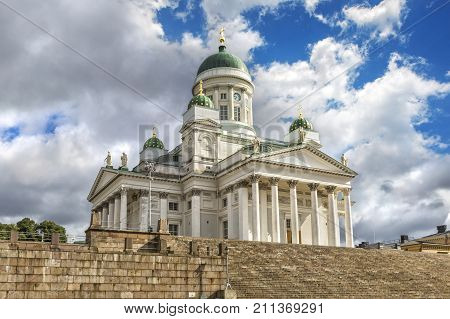Helsinki Cathedral Also Known As A St Nicholas Church.