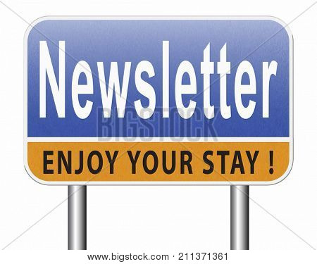 newsletter latest news bulletin hot breaking and latest news icon 3D, illustration