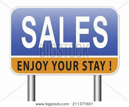sales online shopping concept with discount web shop bargain cheap order at webshop sale road sign billboard 3D, illustration  3D, illustration