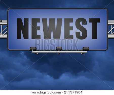 newest best or latest model hot news headlines button or icon with text and word concept  3D, illustration