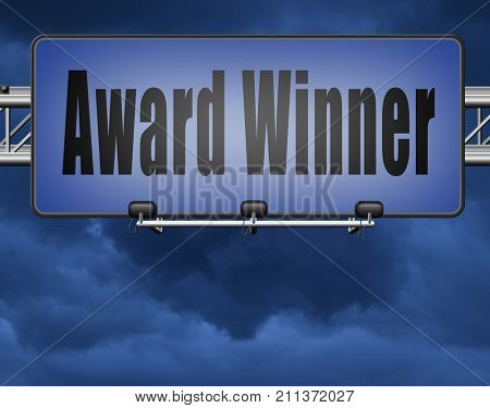 award winner best of the best top quality product,road sign billboard. 3D, illustration