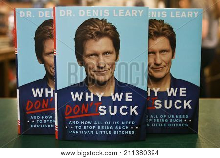 NEW YORK-OCT 25: Denis Leary signs copies of his book,