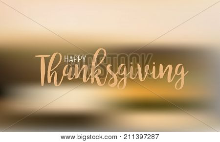 Flat design style Happy Thanksgiving Day logotype, badge and icon. Happy Thanksgiving Day logo template. Thanksgiving Day card template. Happy Thanksgiving banner, flyer