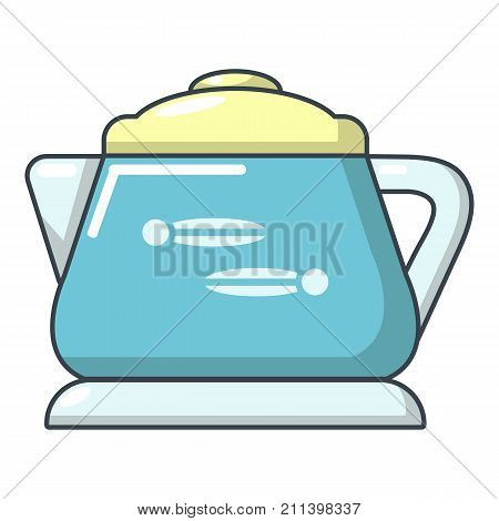 Glass kettle icon. Cartoon illustration of glass kettle vector icon for web