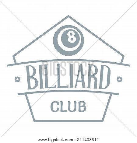 Billiard logo. Simple illustration of billiard vector logo for web