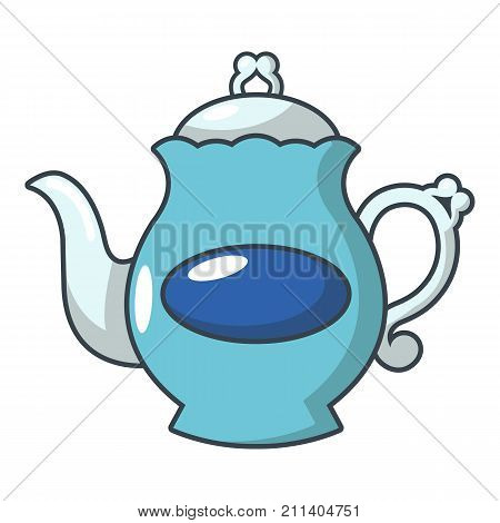 Full kettle icon. Cartoon illustration of full kettle vector icon for web