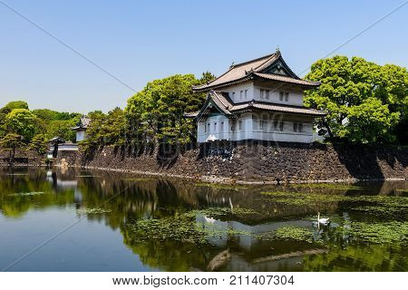 Imperial Palace Castle In Tokyo