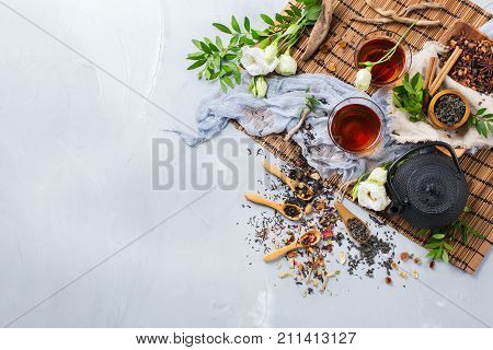 Selection Of Japanese Chinese Herbal Masala Tea Teapot