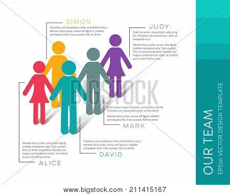 Vector infographic our team company introduction design template