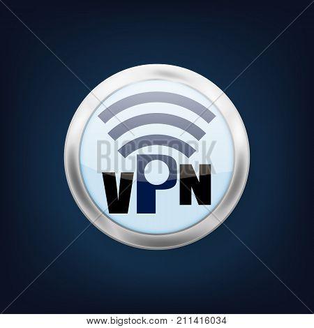 VPN logo. VPN icon. Vector illustration. Eps 10.