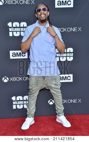 LOS ANGELES - OCT 22:  Lil Jon arrives for the 'The Walking Dead' Season 8 Premiere on October 22, 2017 in Hollywood, CA