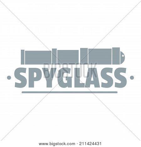 Spyglass logo. Simple illustration of spyglass vector logo for web