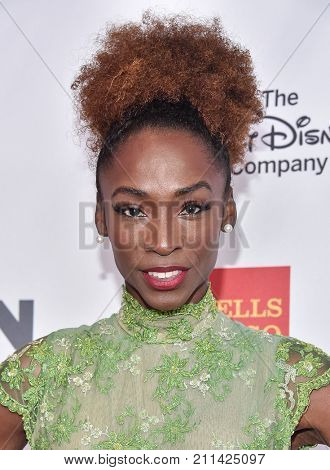 LOS ANGELES - OCT 20:  Angelica Ross arrives for the GLSEN Respect Awards 2017 on October 20, 2017 in Beverly Hills, CA
