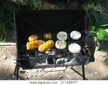 Grill on grill in nature on your grill, hobby
