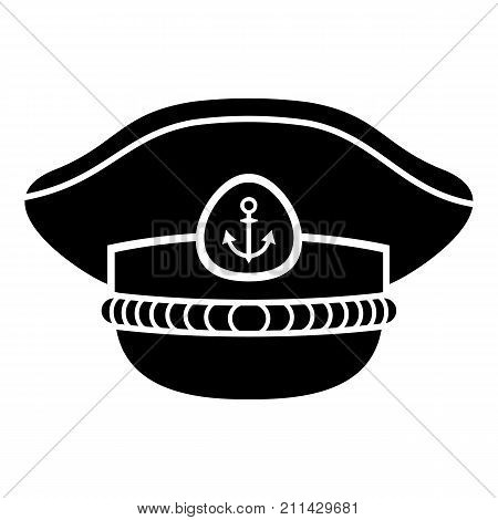 Sailor cap icon. Simple illustration of sailor cap vector icon for web