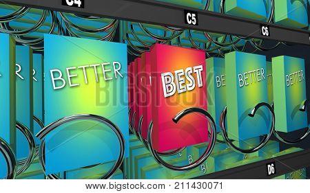 Better Vs Best Product Review Comparison 3d Illustration