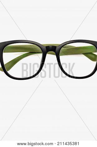 Black Eyewear Green Eyewear on white background