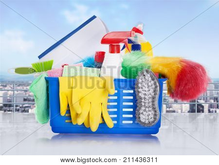 Bucket house chemical household household chemicals yellow group