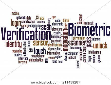 Biometric Verification, Word Cloud Concept