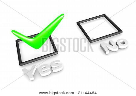 Yes/No voting concept