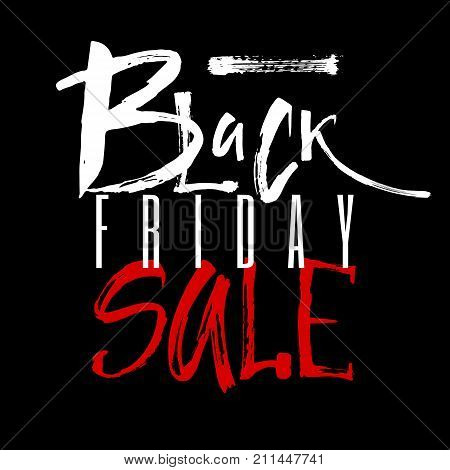 Advertising Poster Black Friday. Letthering Black Friday Sale As An Element Of Your Design