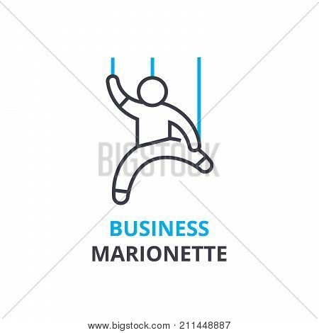 Business marionette concept , outline icon, linear sign, thin line pictogram, logo, flat illustration, vector