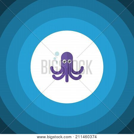 Tentacle Vector Element Can Be Used For Octopus, Tentacle, Squid Design Concept.  Isolated Octopus Flat Icon.