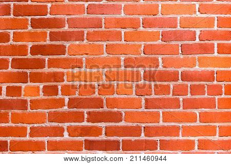 Close up of Clean Textured Red Brick Wall