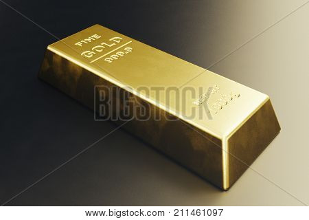 Stack close-up Gold Bars, weight of Gold Bars 1000 grams Concept of wealth and reserve. Concept of success in business and finance, 3d rendering