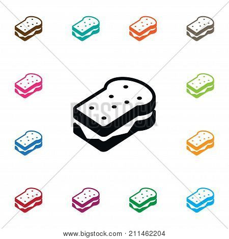 Toast Vector Element Can Be Used For Sandwich, Toast, Breakfast Design Concept.  Isolated Sandwich Icon.