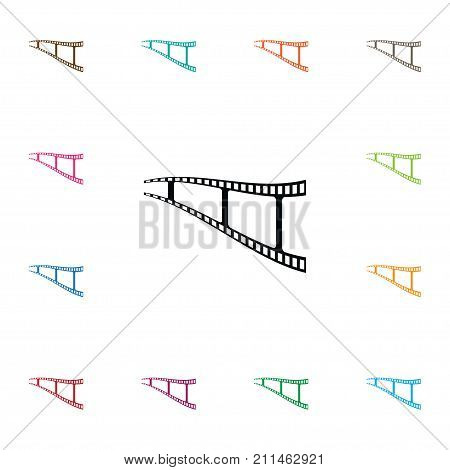 Negative Vector Element Can Be Used For Movie, Negative, Filmstrip Design Concept.  Isolated Movie Icon.