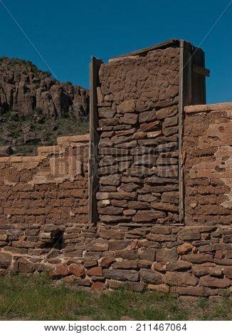 Detail of ruins, Fort Davis National Historical Site, Fort Davis, Texas.
