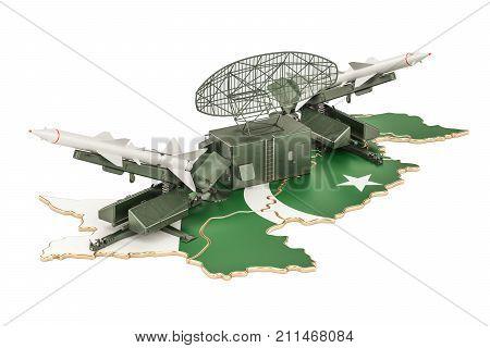 Pakistani missile defence system concept 3D rendering
