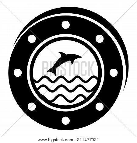 Porthole icon. Simple illustration of porthole vector icon for web