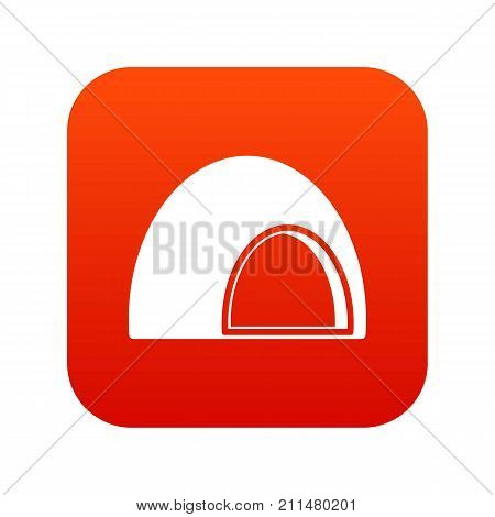 Souffle icon digital red for any design isolated on white vector illustration
