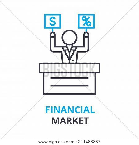 Financial market concept outline vector photo bigstock financial market concept outline icon linear sign thin line pictogram logo ccuart Image collections