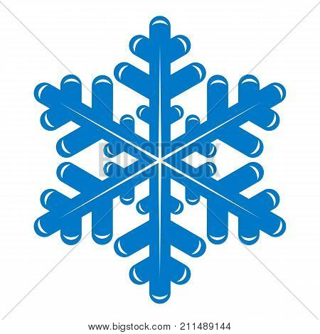 Snowflake icon. Simple illustration of snowflake vector icon for web