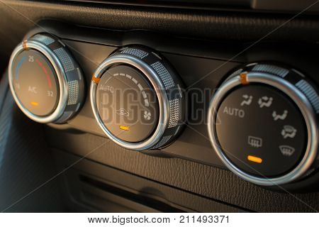 Control air conditioner in a modern car.