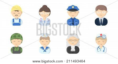 People of different professions icons in set collection for design. Worker and specialist vector symbol stock  illustration.