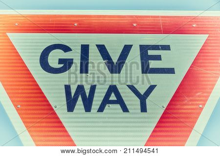 In  The Road Street Signal Of Give Way