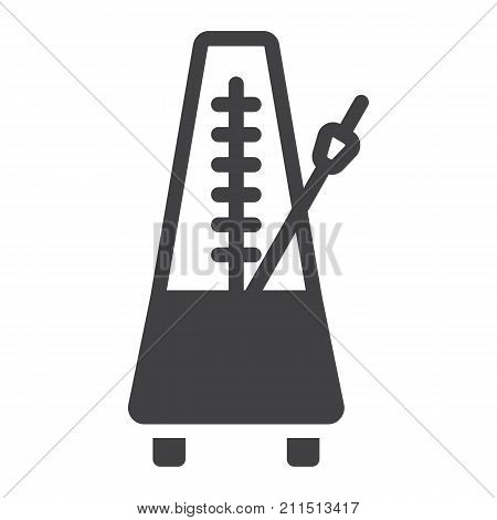 Metronome glyph icon, music and instrument, tempo sign vector graphics, a solid pattern on a white background, eps 10.