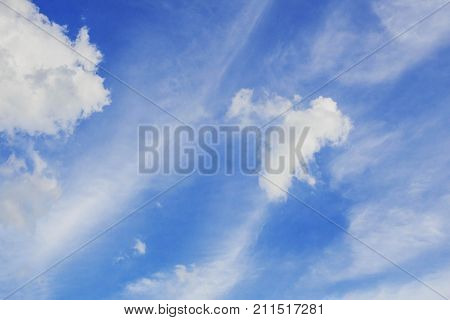 Sky and a clouds in the daytime. poster