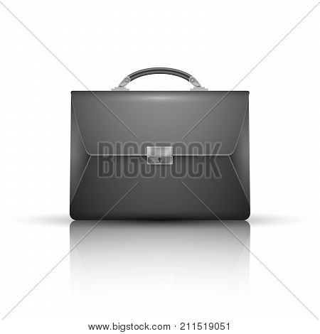 Briefcase - business realistic icon. Vector eps 10