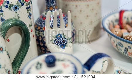 Painted Utensils Close-up. .hand-painting Utensils At Home